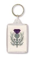 Scottish Thistle Keyring Cross Stitch Kit by Textile Heritage