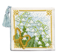 Lily of the Valley Needle Case Cross Stitch Kit by Textile Heritage