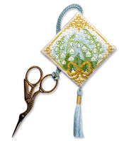 Lily of the Valley Scissor Keep Cross Stitch Kit by Textile Heritage