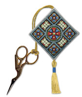 Stained Glass Window Scissor Keep Cross Stitch Kit by Textile Heritage