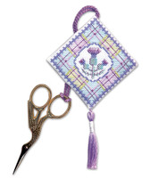 Tartan Thistles Scissor Keep Cross Stitch Kit by Textile Heritage