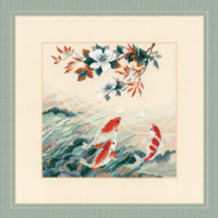 Dancing Fish Cross Stitch Kit by Riolis