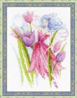 Spring Breeze Fairy Cross Stitch Kit by Riolis