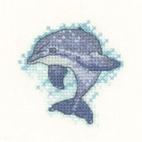 Dolphin Cross Stitch Kit By Heritage