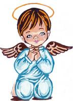 Angel Boy Prayer Canvas only By Grafitec