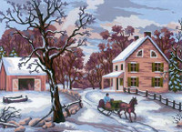Winter Scene Canvas only By Grafitec