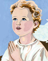 Altar Boy Prayer Canvas only By Grafitec