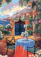 Tuscan Terrace Canvas only By Grafitec