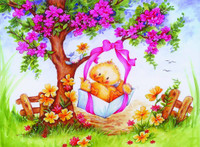 Duckling Swing Canvas only By Grafitec