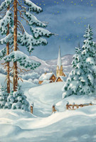 Snow Chapel Canvas only By Grafitec