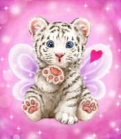 Baby Tiger Kiss Canvas only By Grafitec