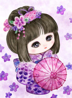 Sweet Geisha Parasol Canvas only By Grafitec