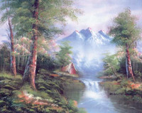 Mountain Cascades Canvas only By Grafitec
