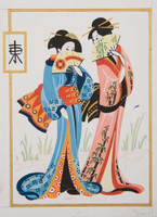 Geisha Pair Canvas only By Grafitec