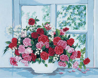 Roses by the Window Canvas only By Grafitec