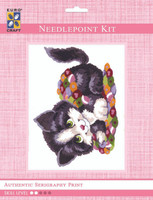 Patchwork Kitten  Tapestry Kit By Grafitec