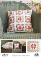 Granny Square Cushion Cover  Crochet Pattern by DMC
