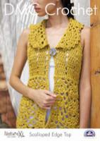 Scalloped Edge Top Crochet Pattern by DMC
