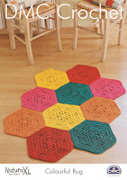 Colourful Rug Crochet Pattern by DMC