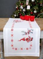 Christmas Elves Runner Emboidery Kit By Vervaco