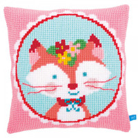 Lief! Laughing Small Fox Cross Stitch Chunky Cushion Kit By Vervaco