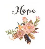 Watercolour Flowers Hope Cross Stitch Kit by Janlynn