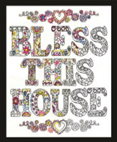 Zenbroidery - Bless This House Conton Fabric by Design Works