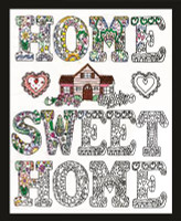 Zenbroidery - Home Sweet Home Conton Fabric by Design Works