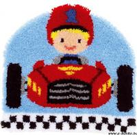 Racing Car Latch Hook Rug Kit By Vervaco