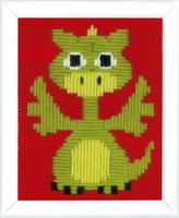 Dragon Childrens Starter Longstitch Kit By Vervaco
