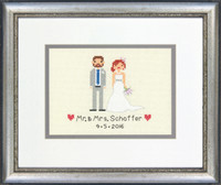 Wedding Record Bride & Groom Cross Stitch Kit by Dimensions