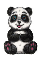 Patch the Panda Latch Hook Rug  By Grafitec