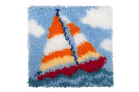 Sail Boat Latch Hook Rug  By Grafitec