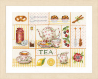 Tea Party Counted Cross Stitch Kit By Lanarte