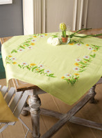 Embroidery Kit: Tablecloth: Dandelions By Vervaco