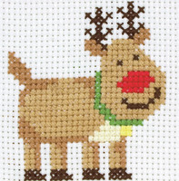 1st Kit: Rudolph Cross Stitch Kit By Anchor