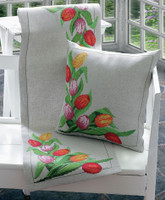 Tulips Runner Cross Stitch Kit By Anchor