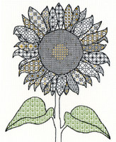 Blackwork Sunflower By Bothy Threads