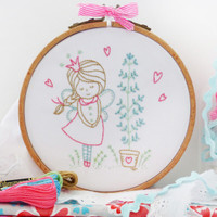 Shy Fairy Embroidery Kit By DMC