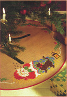 Santa and Cat: Carpet Embroidery Kit By Anchor