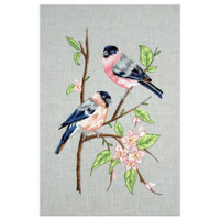 Freestyle: Bullfinches Kit Embroidery Kit By Anchor