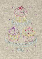 Freestyle: Starter: Cupcake Kit Embroidery Kit By Anchor