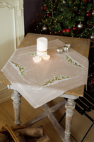 Village in the Snow Embroidery: Tablecloth: Kit