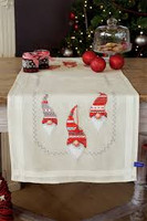 Christmas Elves Embroidery: Runner Kit By Vervaco