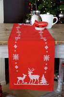 Embroidery: Runner: Christmas Deer Kit By Vervaco