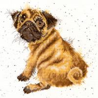 Pug Cross Stitch Kit By Bothy Threads