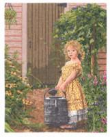 The Gardener's Daughter  Cross Stitch Kit by Janlynn