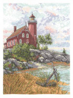 Eagle Harbour Light  Cross Stitch Kit by Janlynn