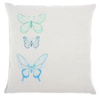 Blue Butterflies  Embroidery Cushion Kit By Vervaco