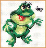 Frog Cross Stitch Kit by Alisa